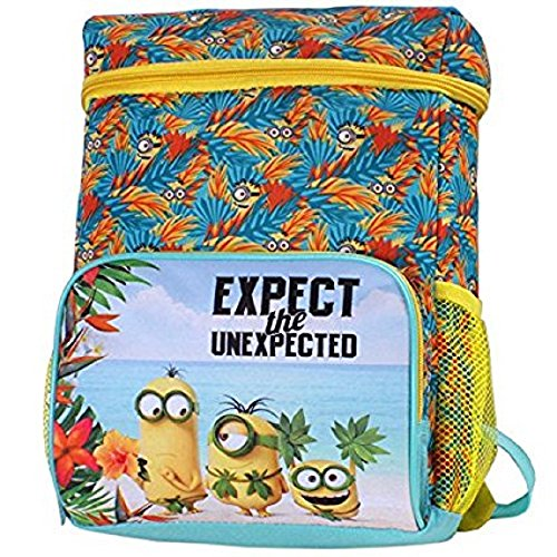 Despicable Me Minions Except the Unexpected 12 inch Backpack Cooler with Side Mesh Pockets