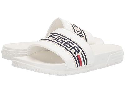 Tommy Hilfiger Kids Geo Logo Slide (Little Kid/Big Kid) (White) Kids Shoes