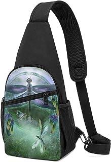 NOT Tie Dye Rainbow Peace Sling Backpack Hiking Daypack Crossbody Shoulder Bag