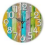 lovely.wall clock Reloj de Pared Moderno, silencioso, Grande, Decorativo, diseño Moderno, para decoración de Pared de Sala de Estar