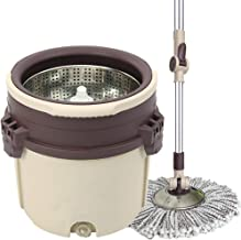 JUAN Hurricane Spin Mop Home Cleaning System,Automatic Rotating Household Hand-free Washing Universal Mopping Mop Wet and ...
