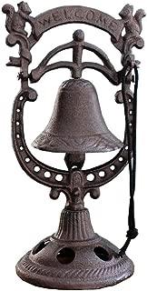 Sungmor Vintage Cast Iron Desktop Hand Ringing Bell Squirrel Shape Dinner Bell | Wrought Iron Rattle Bell Tabletop Ornaments | Ideal for Bars,Restaurants,Cafes,Villas,etc.