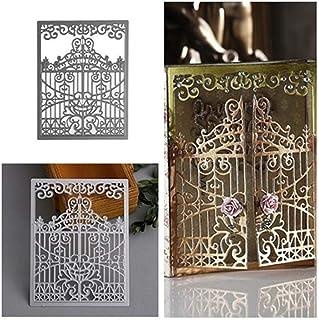 Terzsl Matrice de découpe en métal pour scrapbooking, gaufrage, cartes, album, pochoir décoratif argenté