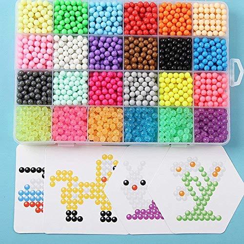 Queta Abalorios Cuentas de Agua,  3200 Perlas 24 Colors para Niños DIY Artesanía Juguetes Educativos Regalo para Niños Craft Kits
