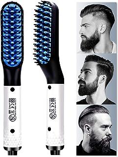 Beard Straightener, Multifunctional Hair Styler Electric Hot Comb and Beard Straightening Brush Hair Straightening Comb Qu...