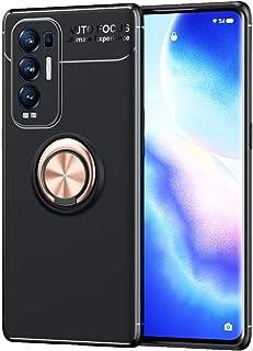 BAIDIYU Case for Realme GT Neo Flash, Slim Soft Silicone Bumper Protector Cover, 360 Degree Rotation Metal Ring Holder (Ma...