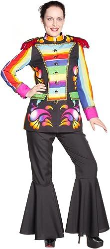Jacke Regenbogen mit Schulterklappen Damen L