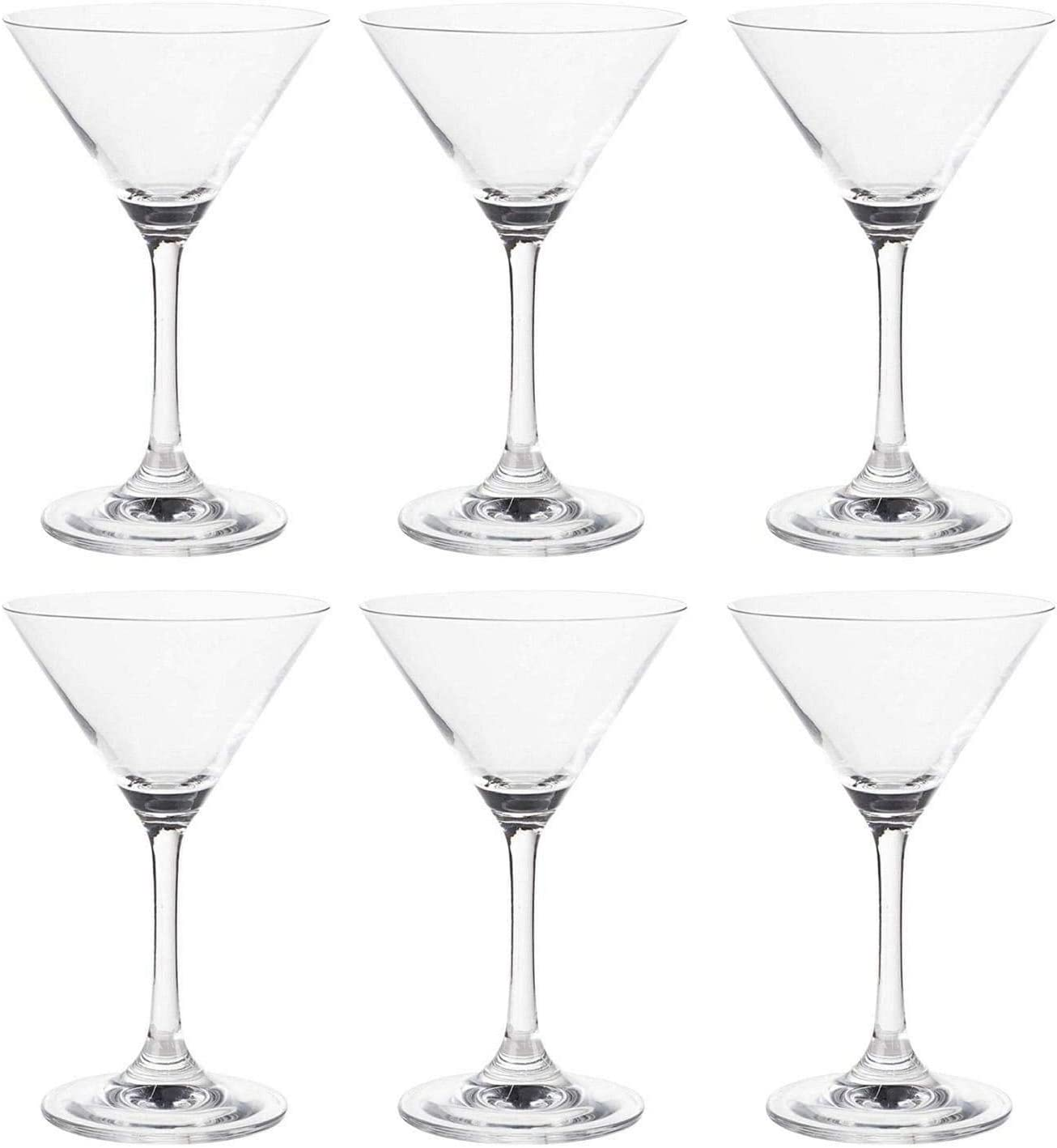 MISC Martini Glasses - Max 40% San Francisco Mall OFF 6-Set 5-Ounce Classic Clear Inve Cocktail