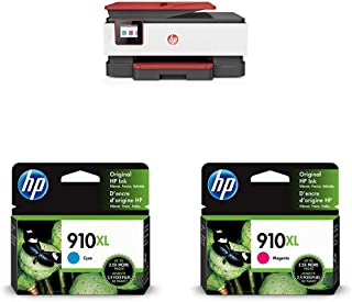 $322 » HP OfficeJet Pro 8035 All-in-One Wireless Printer - Coral (4KJ65A) with XL Ink Cartridges - 4 Colors