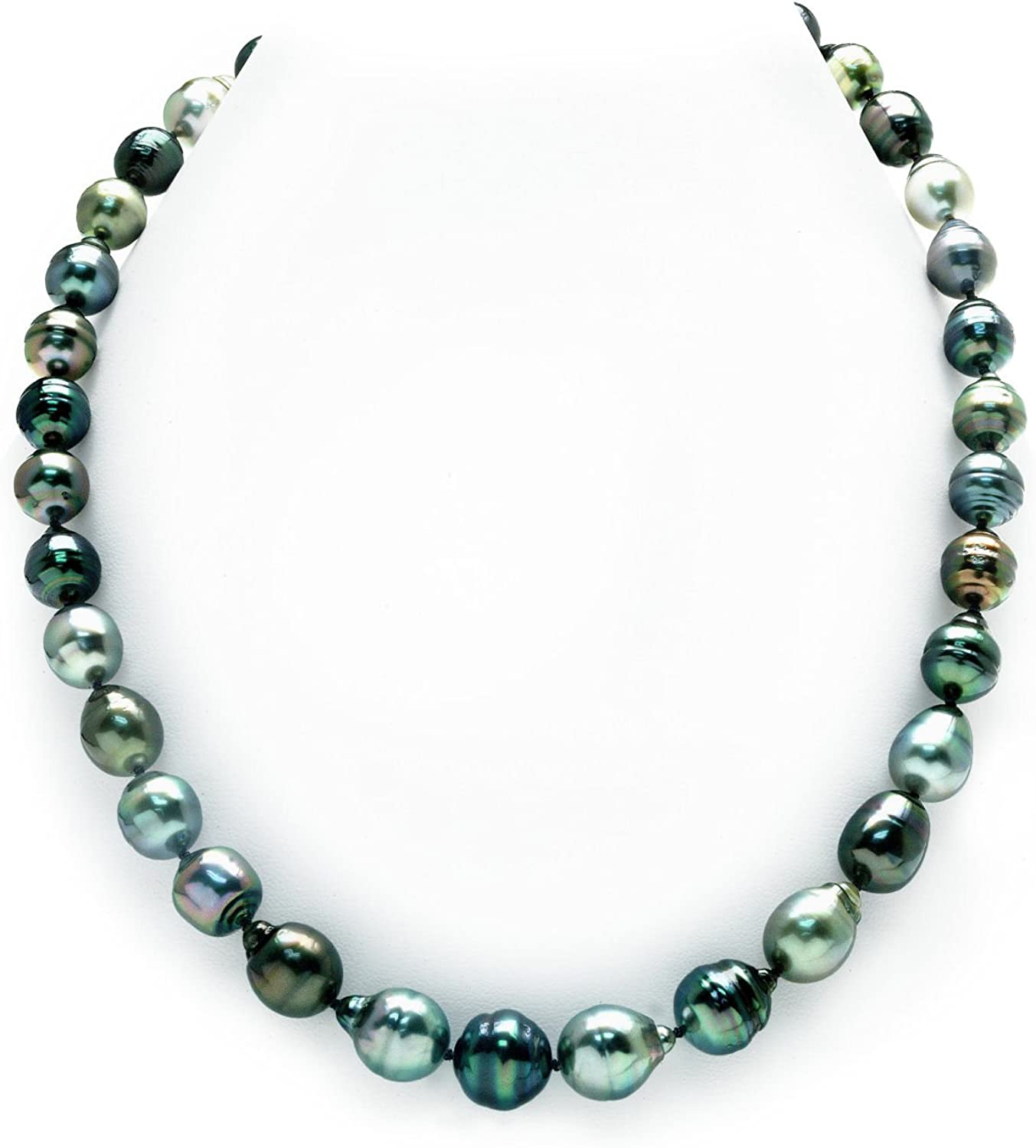 THE PEARL SOURCE 14K Gold 5 ☆ very popular 9-11mm Multicolor Genuine Baroque New Free Shipping Tahi