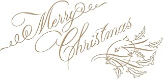 Spellbinders GLP-067 Copperplate Merry Christmas Holiday 2018 by Paul Antonio Glimmer Hot Foil Plate, Metal
