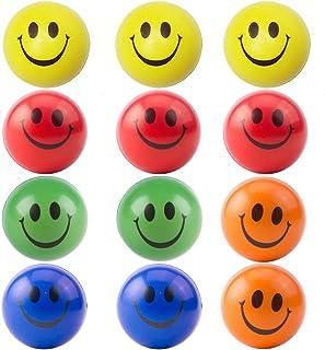 SIMUER Pelota Anti-Presión Pelota Emoji Estrés Cara Juguete Descompresión Pelota Emoji Niños Adultos 12PCS (Random Color)