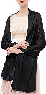 bridesmay Damen Schal Frühling Sommer Stola für Abendkleid Hochzeit Seide Halstuch in 19 Farben 180  90cm
