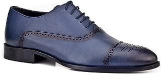 Cabani Bağcıklı Klasik Erkek Ayakkabı Lacivert Antik Deri