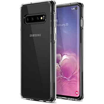 Trianium Clarium Case Designed for Galaxy S10 Case (2019) - Clear TPU Cushion/Hybrid Rigid Back Plate/Reinforced Corner Protection Cover for Samsung Galaxy S 10 Phone (PowerShare Compatible)