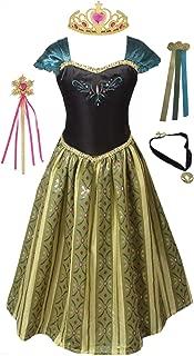FashionModa4U Anna Coronation Dress, Tiara, Wand, Necklace and Hair Clip.