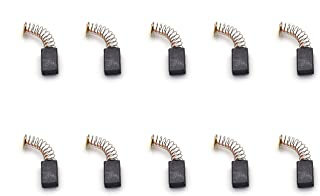 Geesatis 10 PCS Carton Brushes Motor Accessory for Electric Hammer Planer Hand Drill, Black, 1.2
