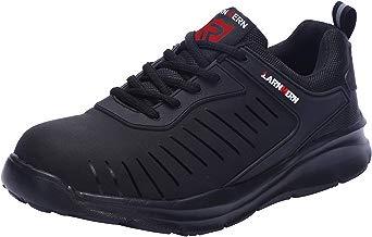 LARNMERN Zapatos de Seguridad para Hombre con Puntera de Acero Zapatillas, Ligeros y Transpirables Zapatos de Entrenamiento prevención de pinchazos LM121 (41 EU, Negro)