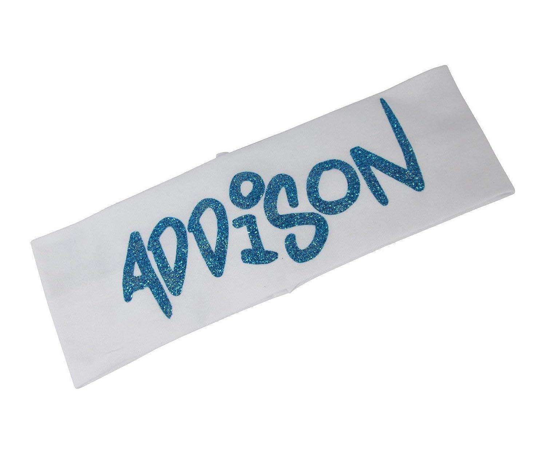 Customized Stretchy Headband with Name- font Graffiti Popular Tulsa Mall Glitter