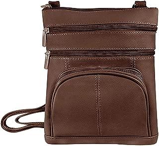 Genuine Leather Multi-Pocket Crossbody Purse Bag