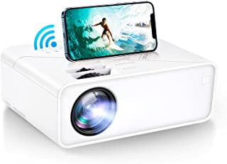 """VIMGO Mini WiFi Projector, 7800Lux Portable Projector Full HD 1080P Supported for Outdoor Movies, 200"""" Display Synchronize..."""