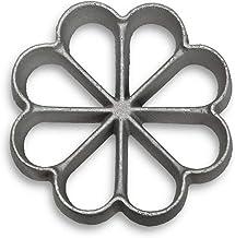 Kitchen Supply Cast-Aluminum Rosette-Iron Mold, 8-Petal Rosette 4-1/2 Inch Across x 1 Inch High