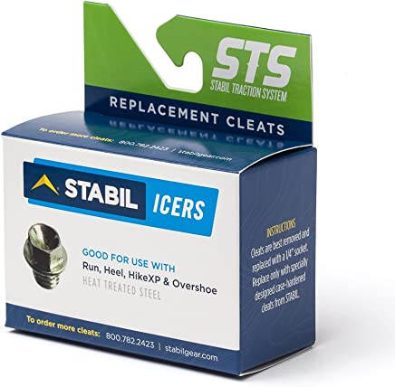 STABILicers Replacement Cleats for STABILicers Run, Hike XP, Hike Macro, Heel, Voyager Overshoes, 25 Traction Ice Cleats, OS