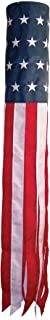 In the Breeze Stars and Stripes 60 Inch Windsock - Embroidered Stars - Durable Patriotic Hanging Decoration