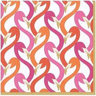 Caspari 14540C Flamingo Flock Fuchsia Napkin Cocktail, 20 CT, Multicolor