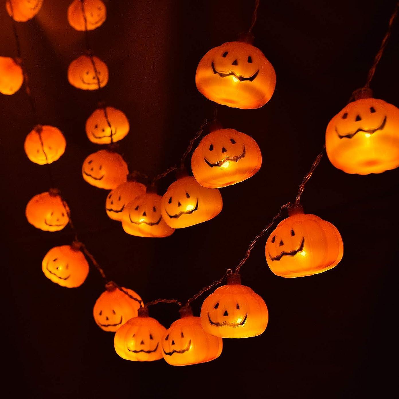 ポーターファイナンス文明Atpwonzハロウィン装飾 カボチャled パンプキンライト 電池式20球 3m 防水 オレンジ色 ハロウィンパーティー ハロウィンデコレーション