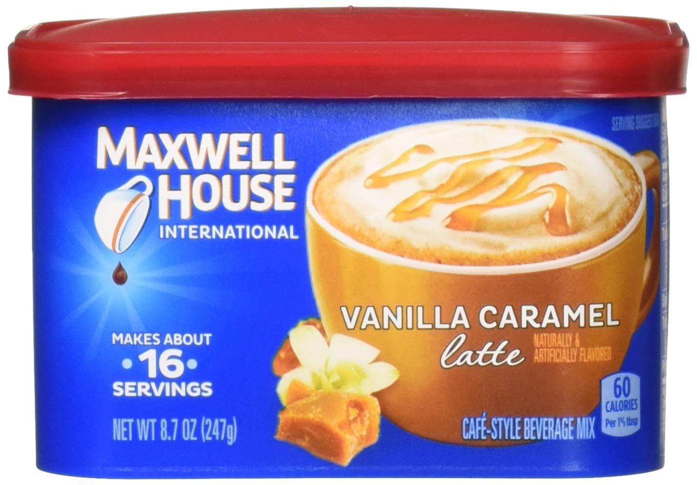 Maxwell House International Latte Caramel Insta Fees free Popularity Flavored Vanilla