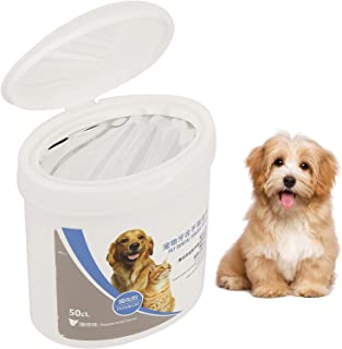 Mumoo Bear Pet Dental Finger Wipes for Dogs & Cats Reducing Plaque & Freshens Breath, Pack of 50
