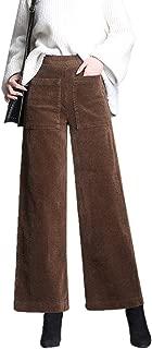 Mujer Pana Pantalon De Pierna Ancha Cintura Alta Elastica Pantalones Palazzo Largos Suelto Pantalones De Pata Ancha Con Botones Leggings Primavera Otono Invierno Myona Pantalones Anchos Mujer Elegantes Ropa Terenowiec Com
