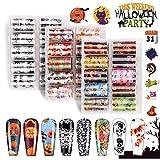 30 Rotoli Adesivi Unghie, Kalolary Decalcomanie Unghie per Halloween Zucca Ragno Vampiri Diavolo Design Accessori per Unghie Artistiche Decalcomanie Unghie Ragazze Donne Decorazione Unghie Fai Da Te