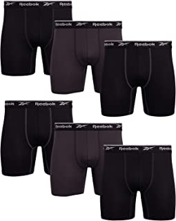 Reebok Men's Sport Soft Performance Boxer Briefs (6 Pack)