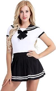 fagginakss Uniforme Scolastica Giapponese Marinaio Manica Lunga Costume Anime Cosplay Donna Studentessa Giapponese Costume Carnevale Halloween Festa