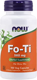 NOW Supplements, Fo-Ti (Ho Shou Wu)560 mg, 100 Veg Capsules