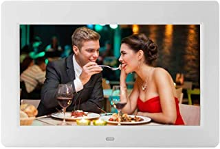 10-Inch Digital Picture Photo Frame with High Resolution Widescreen LCD, MP3 Music,Photo Video Player,Clock Function, Calendar and Remote Control, White