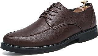 JIALUN-Zapatos Zapatos Formales de los Hombres de Negocios Simples Oxford Casual clásico clásico con Punta rojoonda