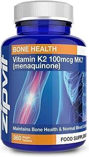 Vitamina K2 MK-7 100 µg. Menaquinona. 360 comprimidos per 12 meses.