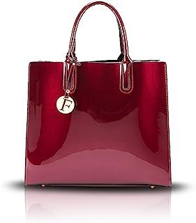 Bolsos de Mano Mujer Bolsos Bandolera Moda Gran Capacidad Charol Bolsos Totes Shoppers y Bolsos de Hombro