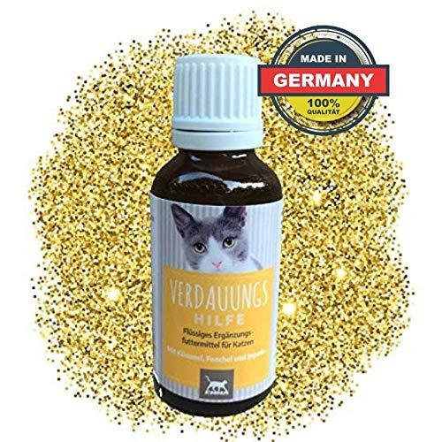 EMMA® Spijsverteringshulp voor Katten I voor verteringsproblemen met komijn & venkel I voor gezonde darmflora na diarree voor katten, verandering van voer 30ml