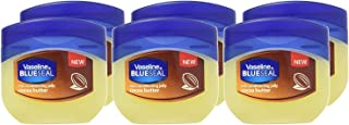 Vaseline Rich Conditioning Petroleum Jelly, Cocoa Butter, Travel Size 1.7 Oz/50 ML (Pack of 6)