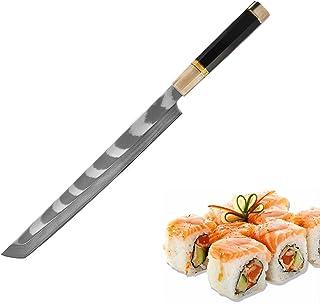 Couteau à sashimi Japan Couteau Couteau octogonal Chef Couteau Couteau Aus-10 Damas Couteau de saumon en acier de Cuisine ...
