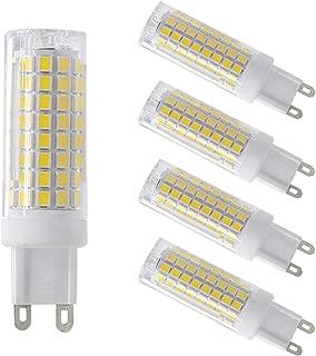 750LM 9W RANBOO G9 LED Bulb Non-Dimmable 360 Degrees Beam Angle AC 110V-240V Energy Saving Light Bulbs 3000K Warm White Non Flicker 75W Halogen Bulb Equivalent 10-Pack