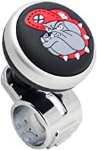 Bulldog Logo Car Steering Wheel Power Handle Spinner Suicide Accessory Knob for Car Vehicle Truck (Silver/gray Logo)
