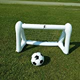 SUNSHINEMALL Children's football training props inflatable football door toy set,Both indoor and outdoor yards can be used to promote children's physical exercise(Triangle Support-43.3x20.5x29.5-inch)
