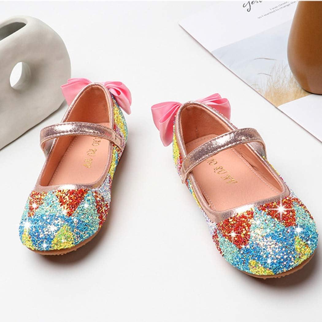 xzbailisha New Children Princess Shoes Girls Sequins Girls Wedding Party Kids Dress Shoes