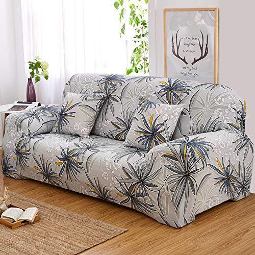 INFANDW Schonbezug Sofahusse, Stretch-Stoff, Couch-Bezug, Sofa-Möbelschutz, kompletter Bezug maschinenwaschbar(hellgrau, 3 Sitzer: 195-230cm)