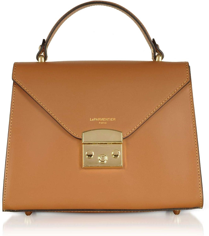 Le Parmentier Women's 070CARAMEL Brown Leather Handbag